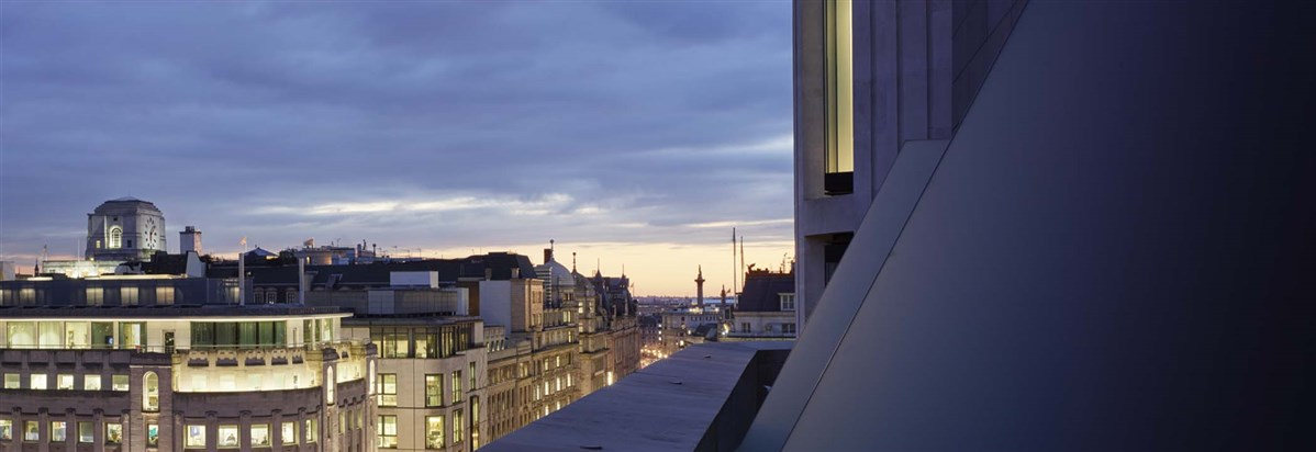 ME London Hotel  Cupola View from Balco